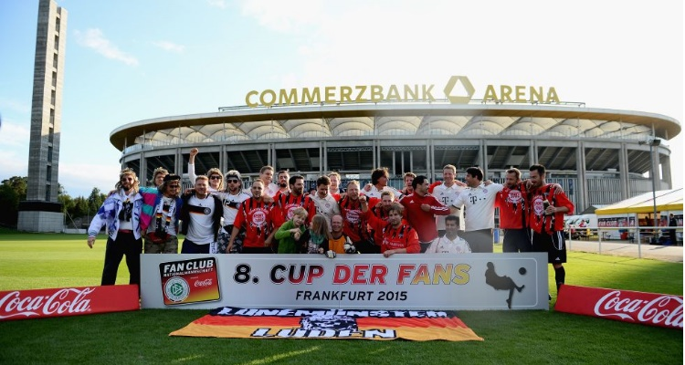Sportmarketingagentur w-com Fan Club Nationalmannschaft Frankfurt Cup der Fans Siegerbild Commerzbank-Arena