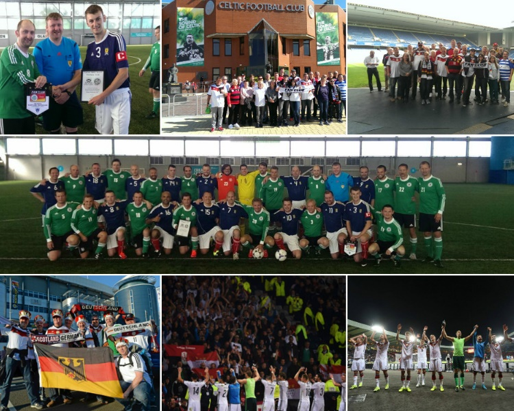 W-com für den Fan Club Nationalmannschat in Schottland. Eine Bilder-Collage.