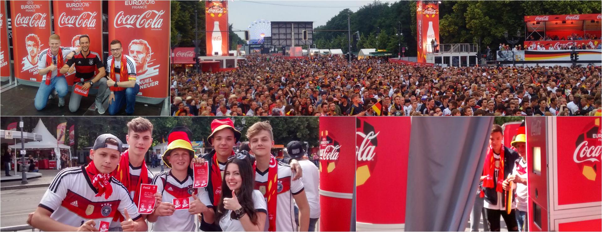 W-com organisiert für Coca-Cola die Fanmeile zur UEFA EURO 2016™ in Berlin