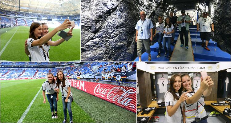 W-com für den Fan Club Nationalmannschaft und Coca-Cola beim Länderspiel Deutschland – Ungarn in Gelsenkirchen