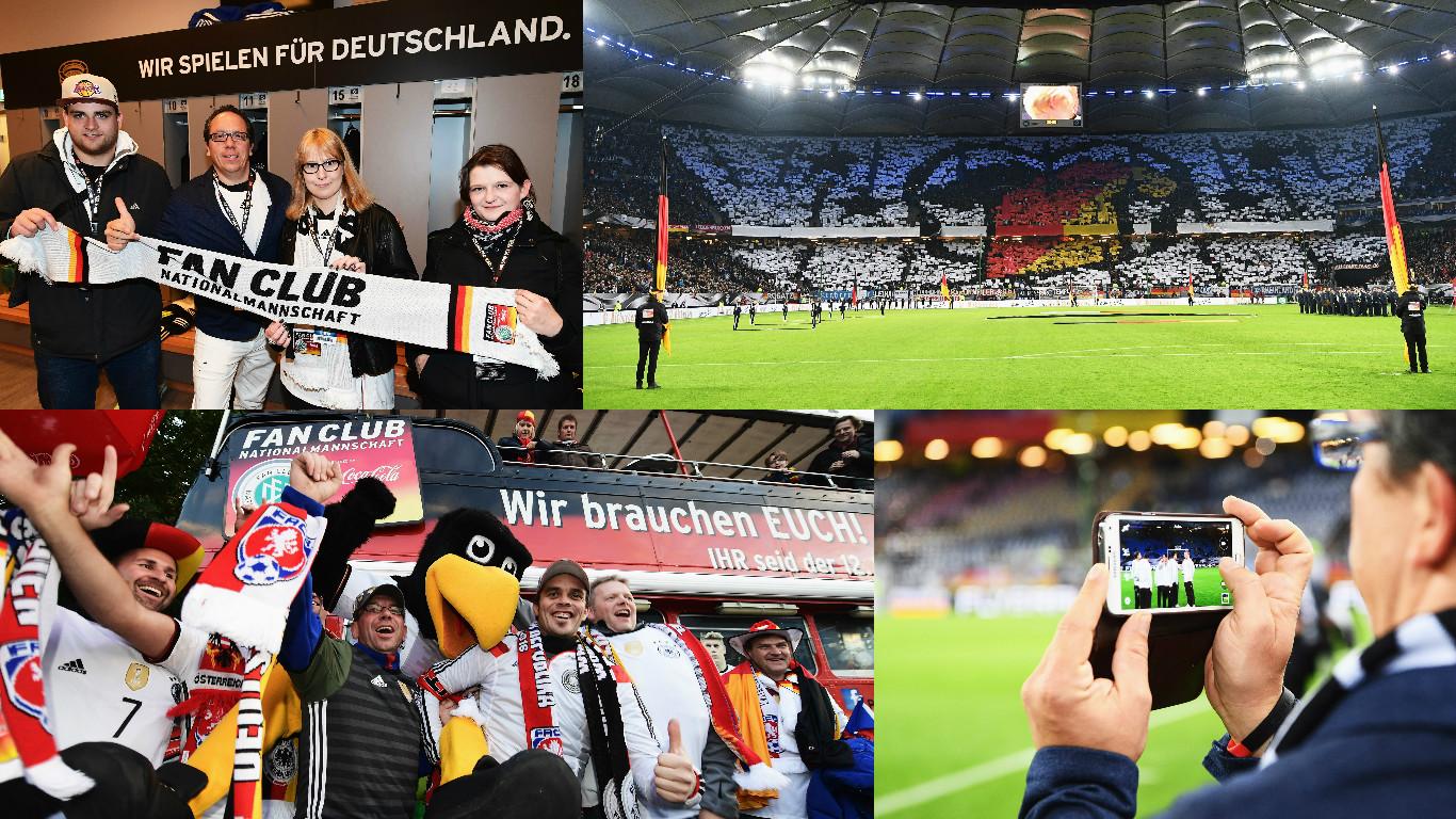 Sportmarketingagentur W-com lässt beim Länderspiel in Hamburg das Leder rollen